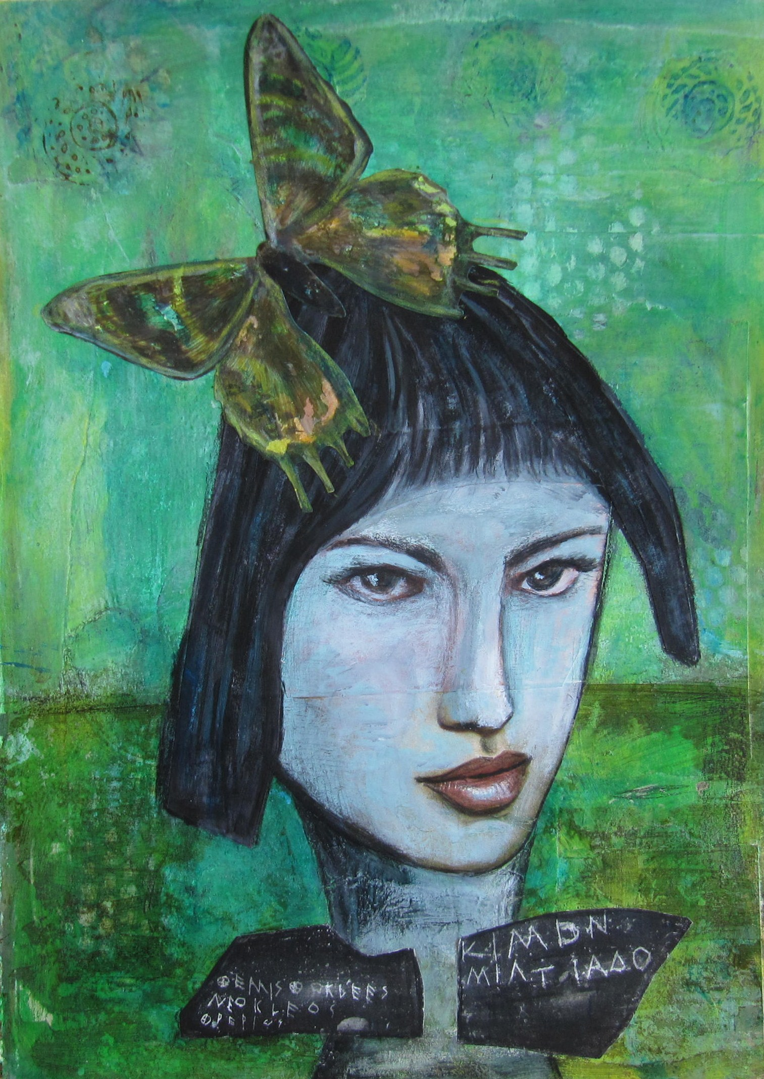 Mysterious Woman – Art Journal – Joyful Ploys